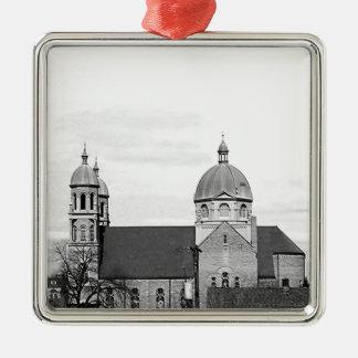 Catholic Church Black and White Photo Christmas Tree Ornaments