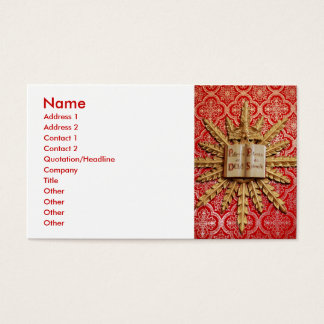 Catholic church decorations business card