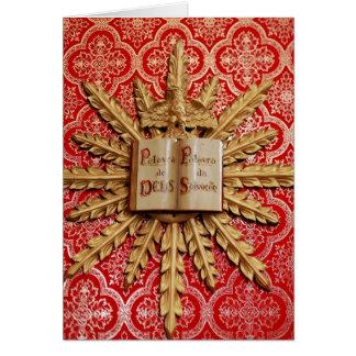 Catholic church decorations card