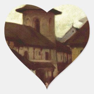 Catholic Church in Cimpulung by Nicolae Grigorescu Heart Sticker