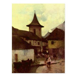 Catholic Church in Cimpulung by Nicolae Grigorescu Postcard