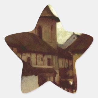 Catholic Church in Cimpulung by Nicolae Grigorescu Star Sticker