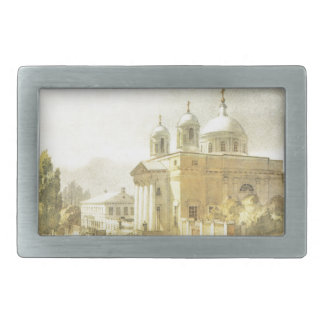 Catholic Church in Kyiv by Taras Shevchenko Belt Buckles