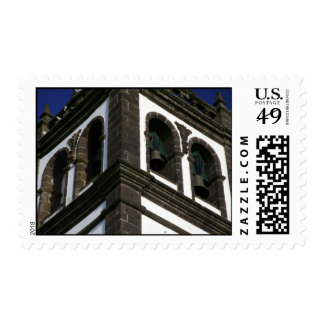 Catholic church tower postage stamps
