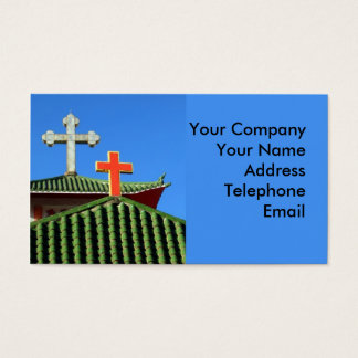 Catholic Church with Chinese Roof Business Card