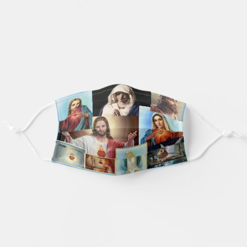 Catholic Classic Images Jesus Virgin Mary Angel Adult Cloth Face Mask