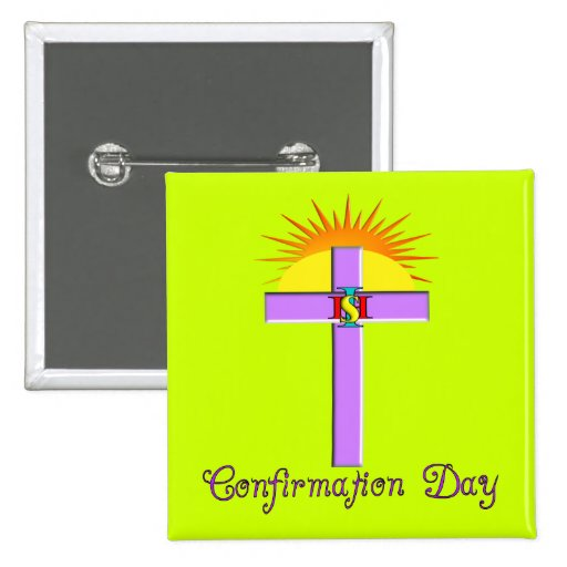 Catholic Confirmation Day Buttons for Kids