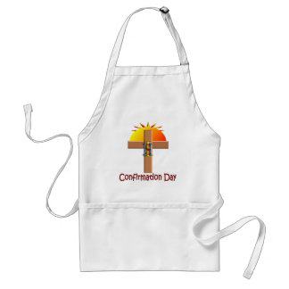 Catholic Confirmation Day for Kids Adult Apron
