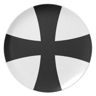 catholic cross dinner plate