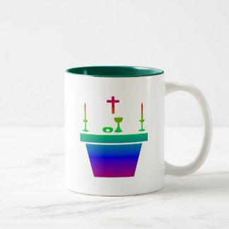 Catholic Eucharistic Altar - Holy Thursday Two-Tone Coffee Mug
