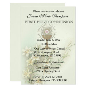 Catholic First Holy Communion Invitation