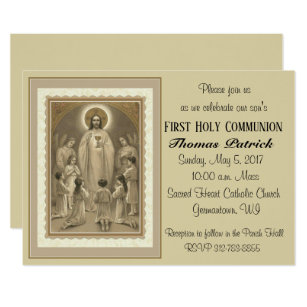 Catholic First Communion 1st Holy Communion Invitations Zazzle