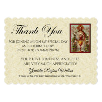 Catholic First Holy Communion Jesus Thank You Card