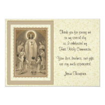 Catholic First Holy Communion Thank You Card