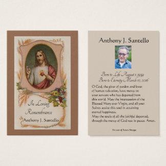 Catholic Funeral Memorial Prayer Holy Card