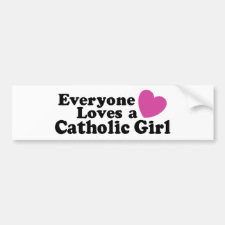 Catholic Girl Bumper Sticker
