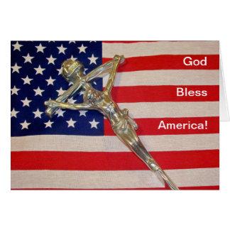 Catholic God Bless America Card