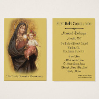 Catholic Holy Card for First Holy Communion