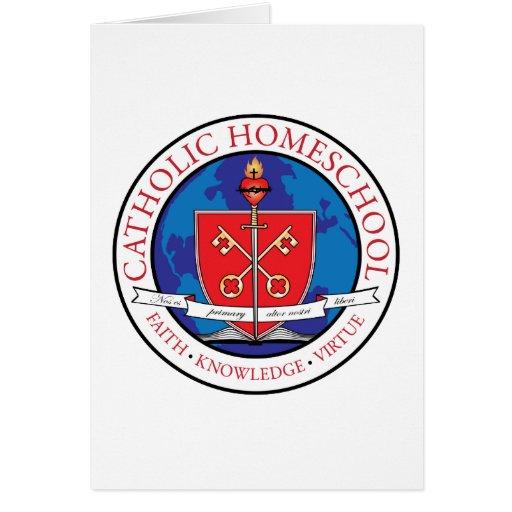Catholic Homeschool Crest Card Vertical