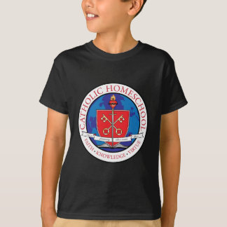 Catholic Homeschool Crest Kids Dark T-Shirt