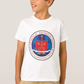Catholic Homeschool Crest Kids T-Shirt