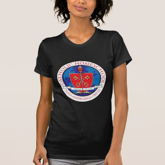 Catholic Homeschool Crest Ladies Petite T-Shirt