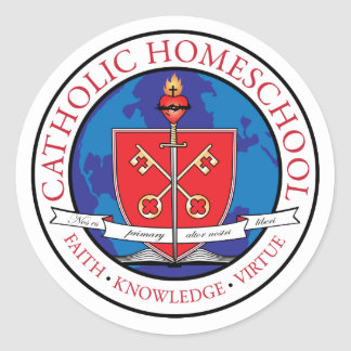 Catholic Homeschool Crest Sticker Sheet