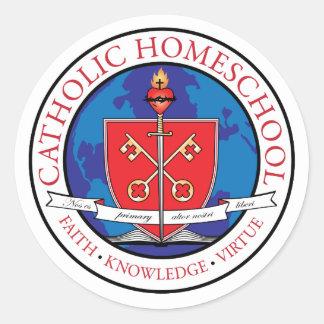 Catholic Homeschool Crest Sticker Sheet