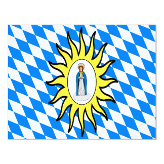 Catholic League Flag 30 Years War Mary Gift Mother Card
