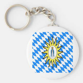 Catholic League Flag 30 Years War Mary Gift Mother Keychain