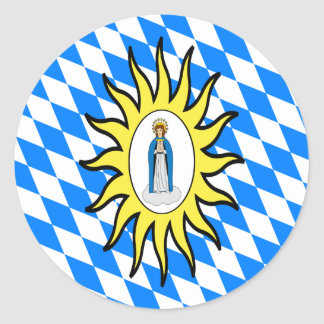 Catholic League Flag 30 Years War Mary Gift Mother Stickers