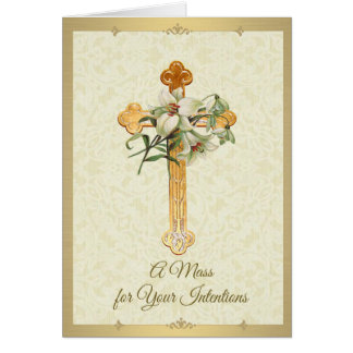 Catholic Mass Memorial Offering Card