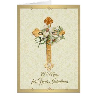 Catholic Mass Memorial Offering Card