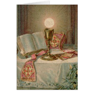 Catholic Mass Offering Memorial Eucharist Card