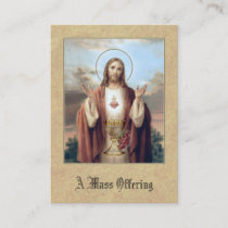 Catholic Mass Offering Prayer Jesus Holy Cards