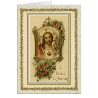 Catholic Mass Sacred Heart Offering Card