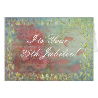 Catholic Nun 25th Jubilee Card