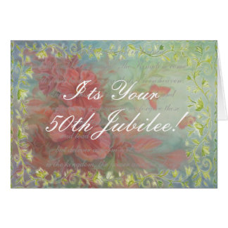 Catholic Nun 50th Jubilee Card