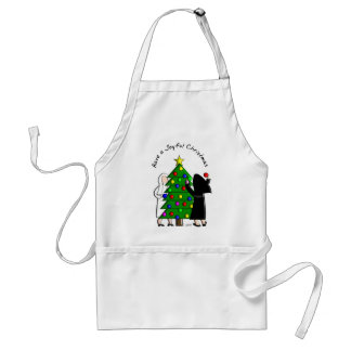 Catholic Nun Art Christmas Cards & Gifts Adult Apron
