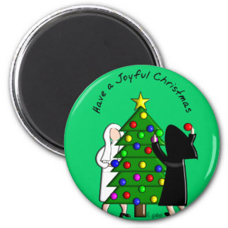 Catholic Nun Art Christmas Cards & Gifts Magnet