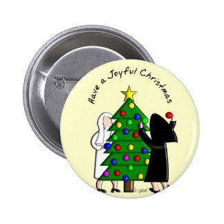 Catholic Nun Art Christmas Cards & Gifts Pinback Button