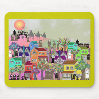 Catholic Nun & Catholic Monk Art Gifts Mousepad