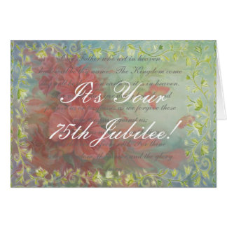 Catholic Nun Diamond 75th Jubilee Cards Gifts
