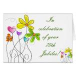 Catholic Nun Diamond 75th Jubilee Floral Card
