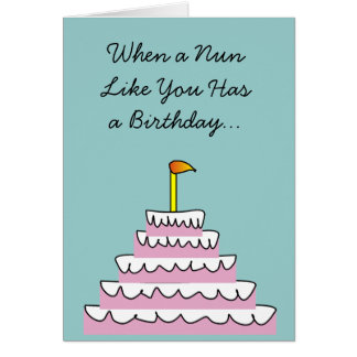 Catholic Nun Fun Birthday Card