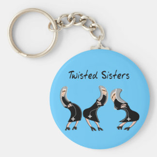 Catholic Nun Gifts Twisted Sisters Design Keychain