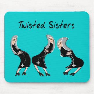 """Catholic Nun Gifts """"Twisted Sisters"""" Design Mouse Pad"""