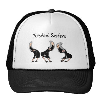 "Catholic Nun Gifts ""Twisted Sisters"" Design Trucker Hat"