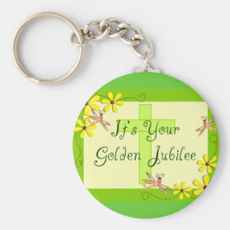 Catholic Nun Golden Jubilee Cards Basic Round Button Keychain
