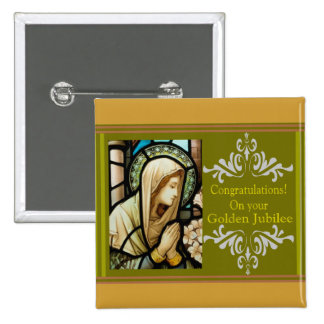 """Catholic Nun """"Golden Jubilee"""" Cards & Gifts Button"""
